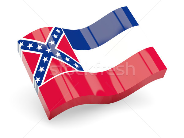 Dalgalı ikon Mississipi bayrak Stok fotoğraf © MikhailMishchenko