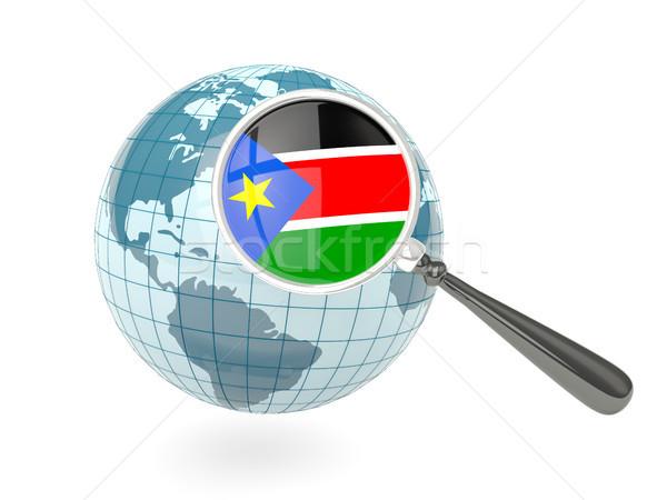 Banderą południe Sudan niebieski świecie Zdjęcia stock © MikhailMishchenko