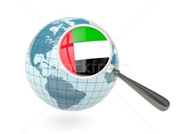 флаг Объединенные Арабские Эмираты синий мира изолированный Сток-фото © MikhailMishchenko