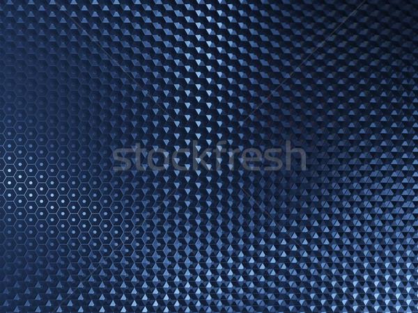 Mavi Metal soyut altıgen elemanları doku Stok fotoğraf © MikhailMishchenko