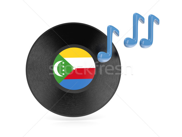 Vinyl disk with flag of comoros Stock photo © MikhailMishchenko