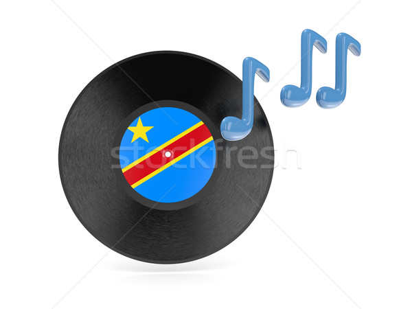 Vinyl disk with flag of democratic republic of the congo Stock photo © MikhailMishchenko