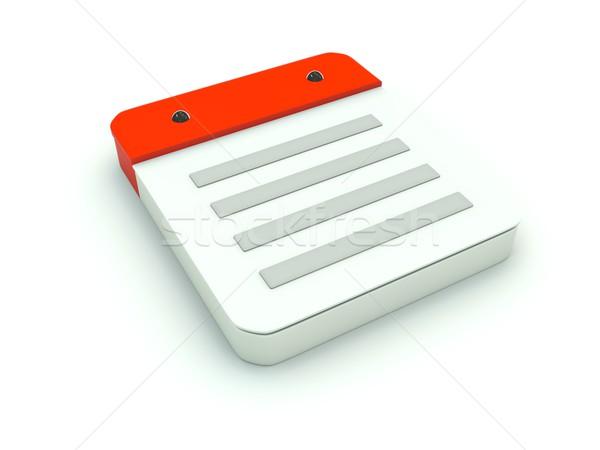 Stock fotó: Jegyzet · ikon · piros · papír · fehér · adat
