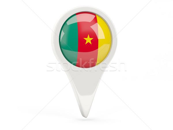 флаг икона Камерун изолированный белый карта Сток-фото © MikhailMishchenko