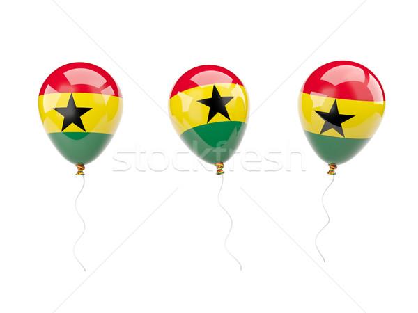 Air balloons with flag of ghana Stock photo © MikhailMishchenko