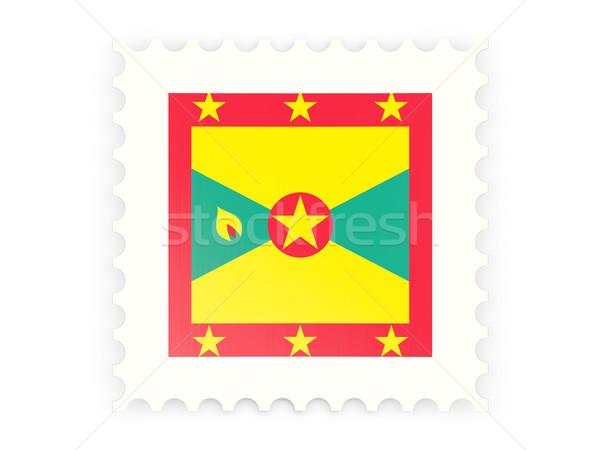 Postabélyeg ikon Grenada izolált fehér posta Stock fotó © MikhailMishchenko