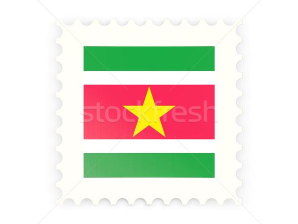 почтовая марка икона Суринам изолированный белый знак Сток-фото © MikhailMishchenko