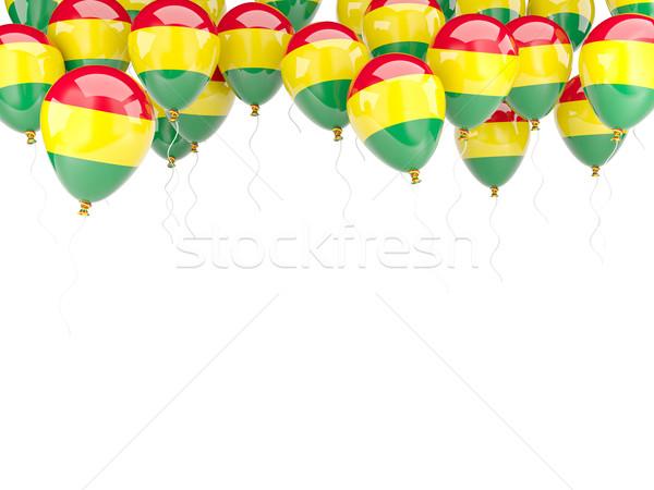 Léggömb keret zászló Bolívia izolált fehér Stock fotó © MikhailMishchenko