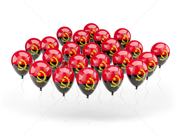 Balloons with flag of angola Stock photo © MikhailMishchenko
