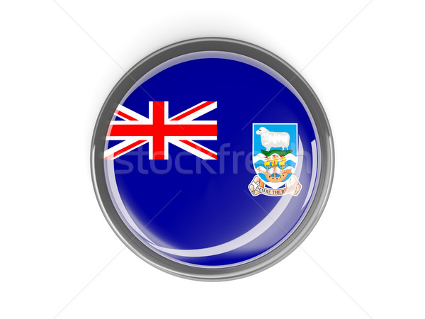Round button with flag of falkland islands Stock photo © MikhailMishchenko
