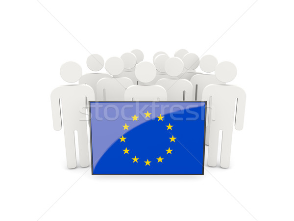 People with flag of european union Stock photo © MikhailMishchenko