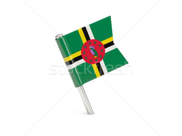 Vlag pin Dominica geïsoleerd witte Stockfoto © MikhailMishchenko