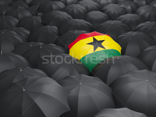 Umbrella with flag of ghana Stock photo © MikhailMishchenko