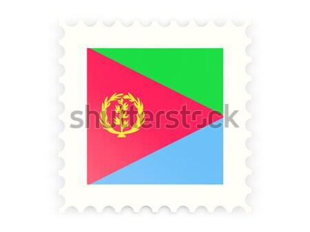 квадратный наклейку флаг Эритрея изолированный белый Сток-фото © MikhailMishchenko