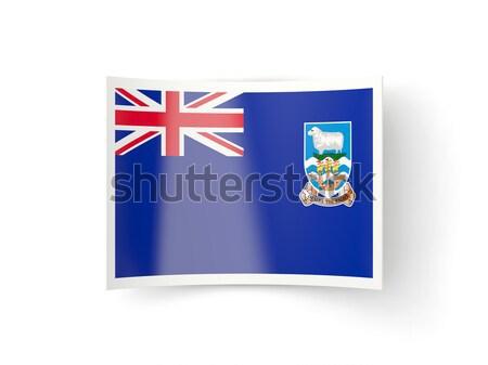 Square sticker with flag of montserrat Stock photo © MikhailMishchenko