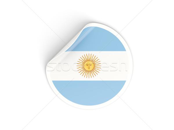 Adesivo bandeira Argentina isolado branco viajar Foto stock © MikhailMishchenko
