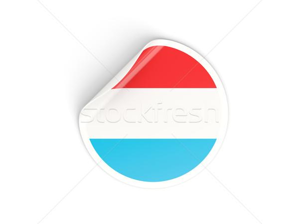 Sticker vlag Luxemburg geïsoleerd witte reizen Stockfoto © MikhailMishchenko