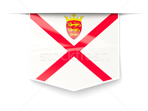 Square label with flag of jersey Stock photo © MikhailMishchenko