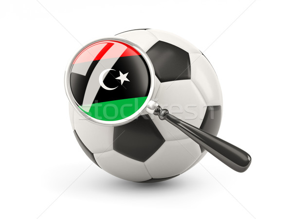 Football with magnified flag of libya Stock photo © MikhailMishchenko