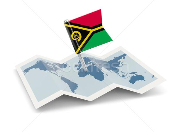 Mapa bandeira Vanuatu isolado branco Foto stock © MikhailMishchenko