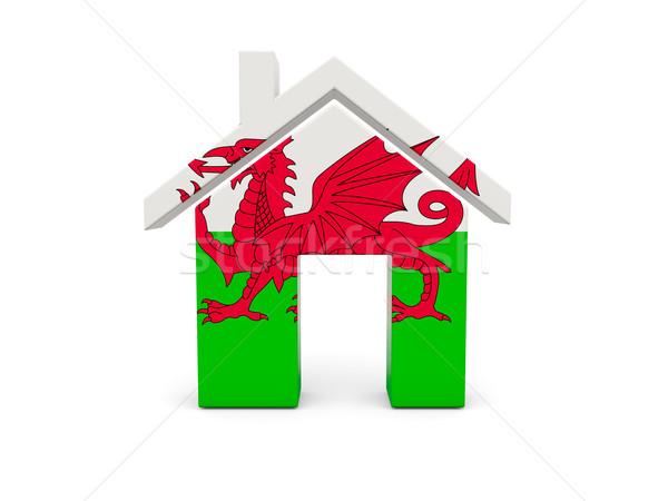 Casa bandera gales aislado blanco país Foto stock © MikhailMishchenko