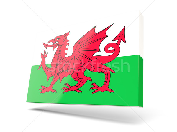 Square icon with flag of wales Stock photo © MikhailMishchenko