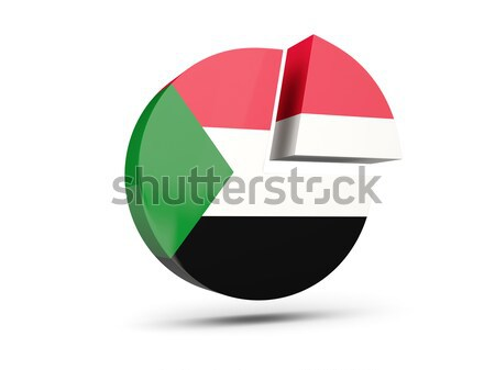 Round icon with flag of sudan Stock photo © MikhailMishchenko