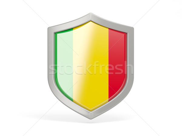 Shield icon with flag of mali Stock photo © MikhailMishchenko