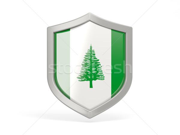 Shield icon with flag of norfolk island Stock photo © MikhailMishchenko