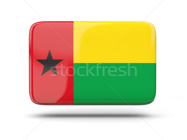 Square icon with flag of guinea bissau Stock photo © MikhailMishchenko