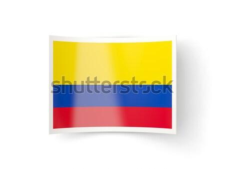 Stock photo: Bent icon with flag of armenia