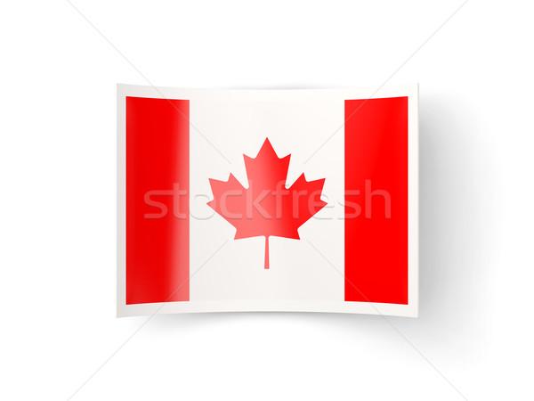 Bent icon with flag of canada Stock photo © MikhailMishchenko
