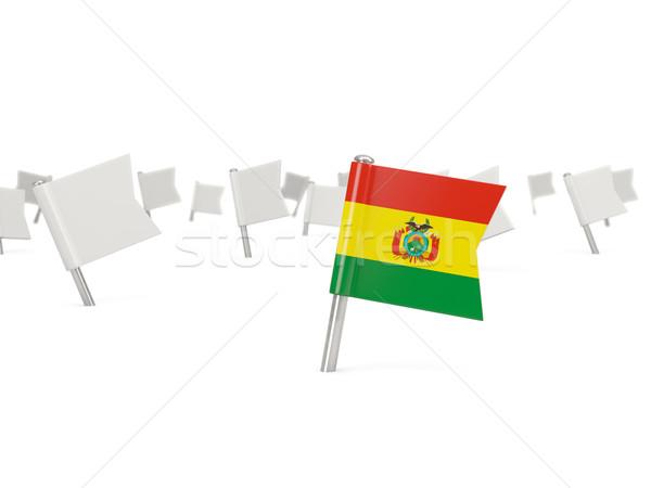 広場 ピン フラグ ボリビア 孤立した 白 ストックフォト © MikhailMishchenko