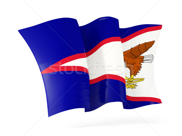 Bandeira Samoa Americana ilustração 3d isolado branco Foto stock © MikhailMishchenko