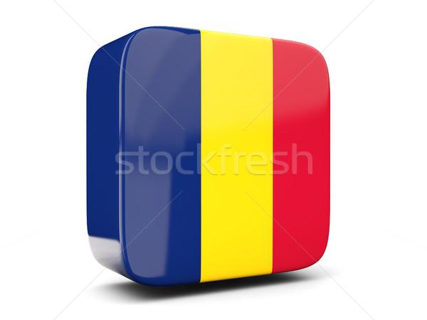 Cuadrados icono bandera Chad 3d aislado Foto stock © MikhailMishchenko