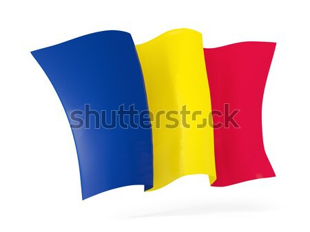 Waving flag of chad. 3D illustration Stock photo © MikhailMishchenko