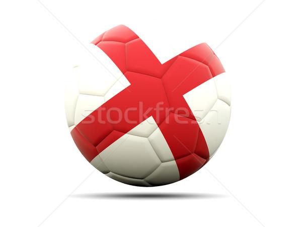 Futball zászló Anglia 3d illusztráció futball sport Stock fotó © MikhailMishchenko