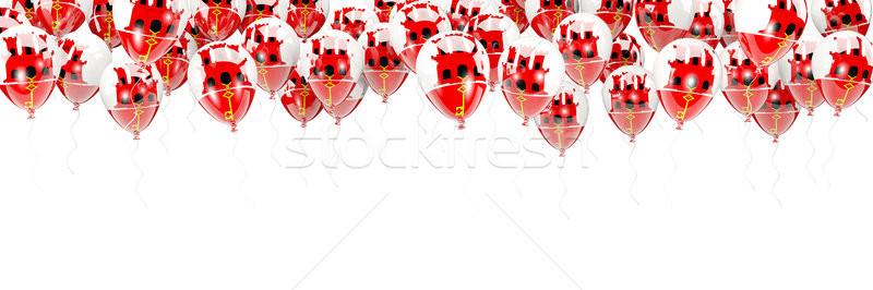 Balony ramki banderą gibraltar odizolowany biały Zdjęcia stock © MikhailMishchenko