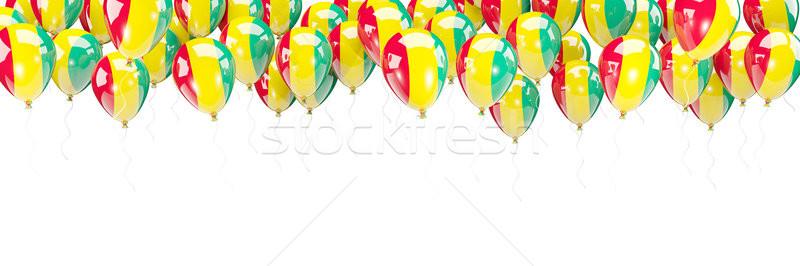 Ballonnen frame vlag Guinea geïsoleerd witte Stockfoto © MikhailMishchenko