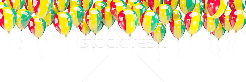 Balloons frame with flag of guinea Stock photo © MikhailMishchenko