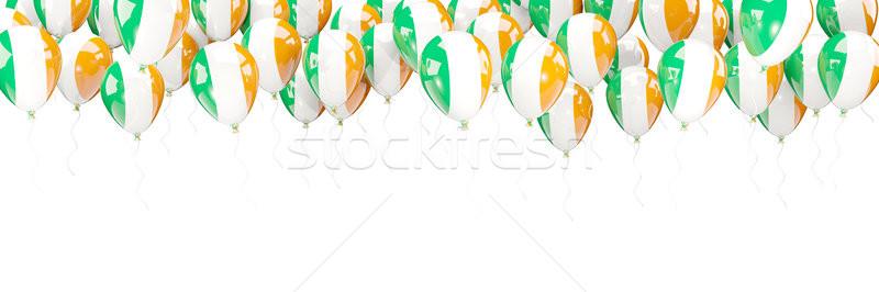 Globos marco bandera Irlanda aislado blanco Foto stock © MikhailMishchenko