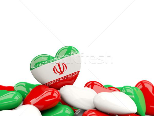 Heart with flag of iran Stock photo © MikhailMishchenko