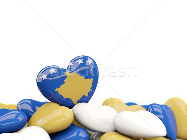 Heart with flag of kosovo Stock photo © MikhailMishchenko