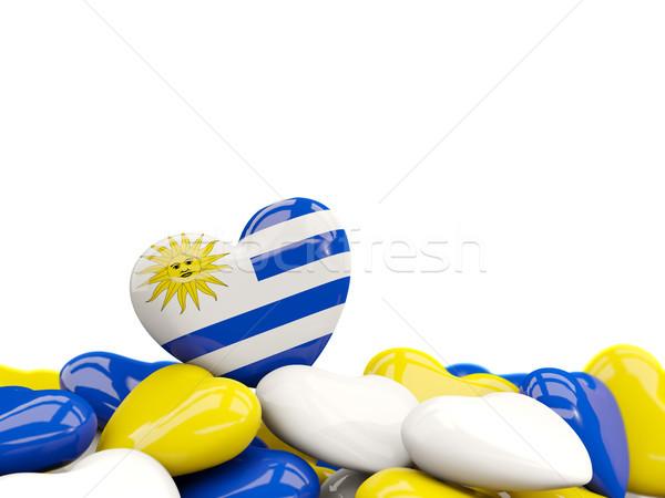 сердце флаг Уругвай Top сердцах изолированный Сток-фото © MikhailMishchenko