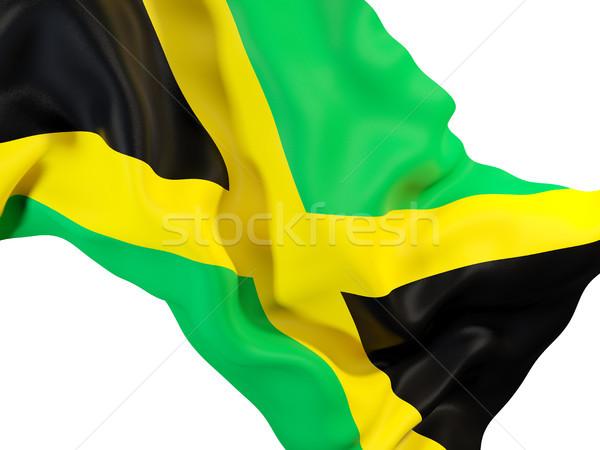 Integet zászló Jamaica közelkép 3d illusztráció utazás Stock fotó © MikhailMishchenko