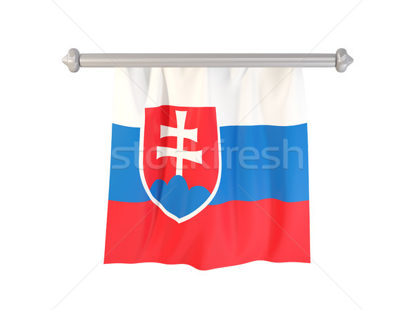 Bayrak Slovakya yalıtılmış beyaz 3d illustration etiket Stok fotoğraf © MikhailMishchenko