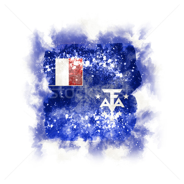 Square grunge flag of french southern territories Stock photo © MikhailMishchenko