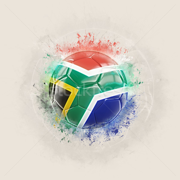 Grunge football with flag of south africa Stock photo © MikhailMishchenko