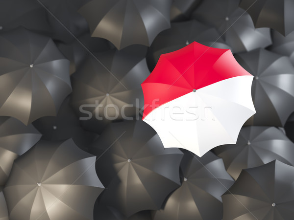Guarda-chuva bandeira Mônaco topo preto guarda-chuvas Foto stock © MikhailMishchenko