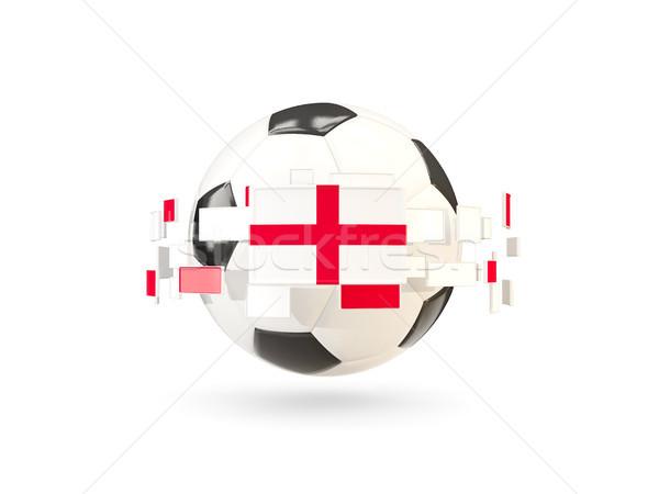 Piłka line flagi banderą Anglii Zdjęcia stock © MikhailMishchenko